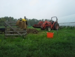 compost and tractor